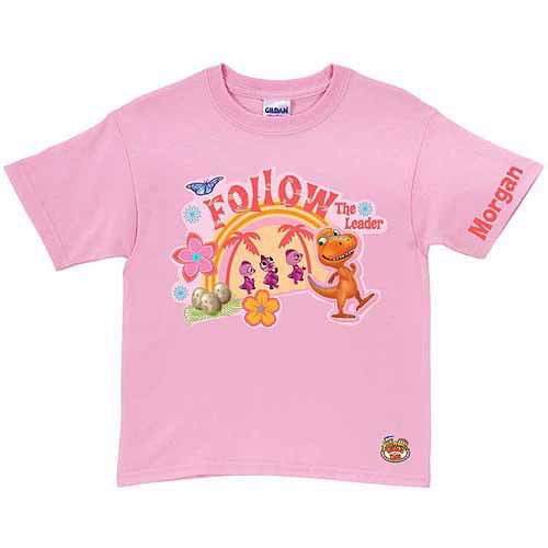 Personalized Dinosaur Train Buddy the Leader Toddler Girl T-Shirt, Pink