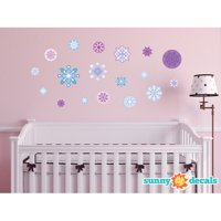 Sunny Decals Frozen Inspired Snowflake Fabric Wall Decal