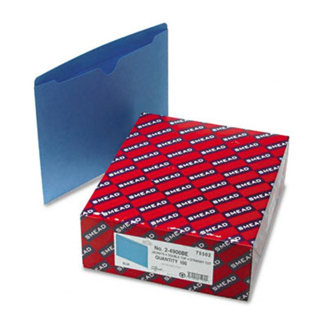 Smead 75502 File Jackets with Reinforced Double-Ply Tab  Ltr  11 Pt.  Stock  BL  100/bx