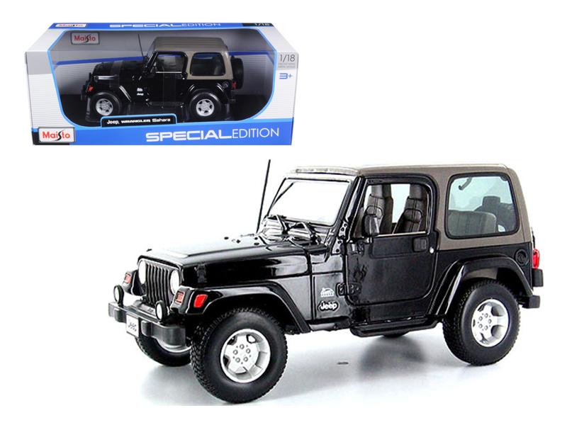 Jeep Wrangler Sahara Black 1 18 Diecast Model Car by Maisto by Maisto