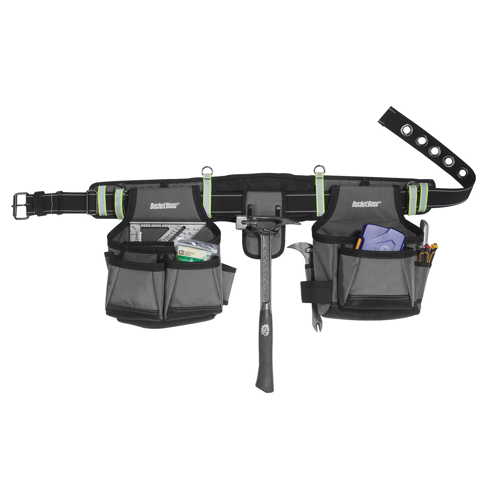"""Bucket Boss 55105-HV 29 Pocket 52"""" Adjustable Gray Contractor's Rig by PULL R HOLDINGS LLC-BUCKETBOSS"""