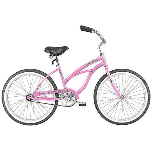 """26"""" Micargi Pantera Women's Beach Cruiser Bike, Pink"""