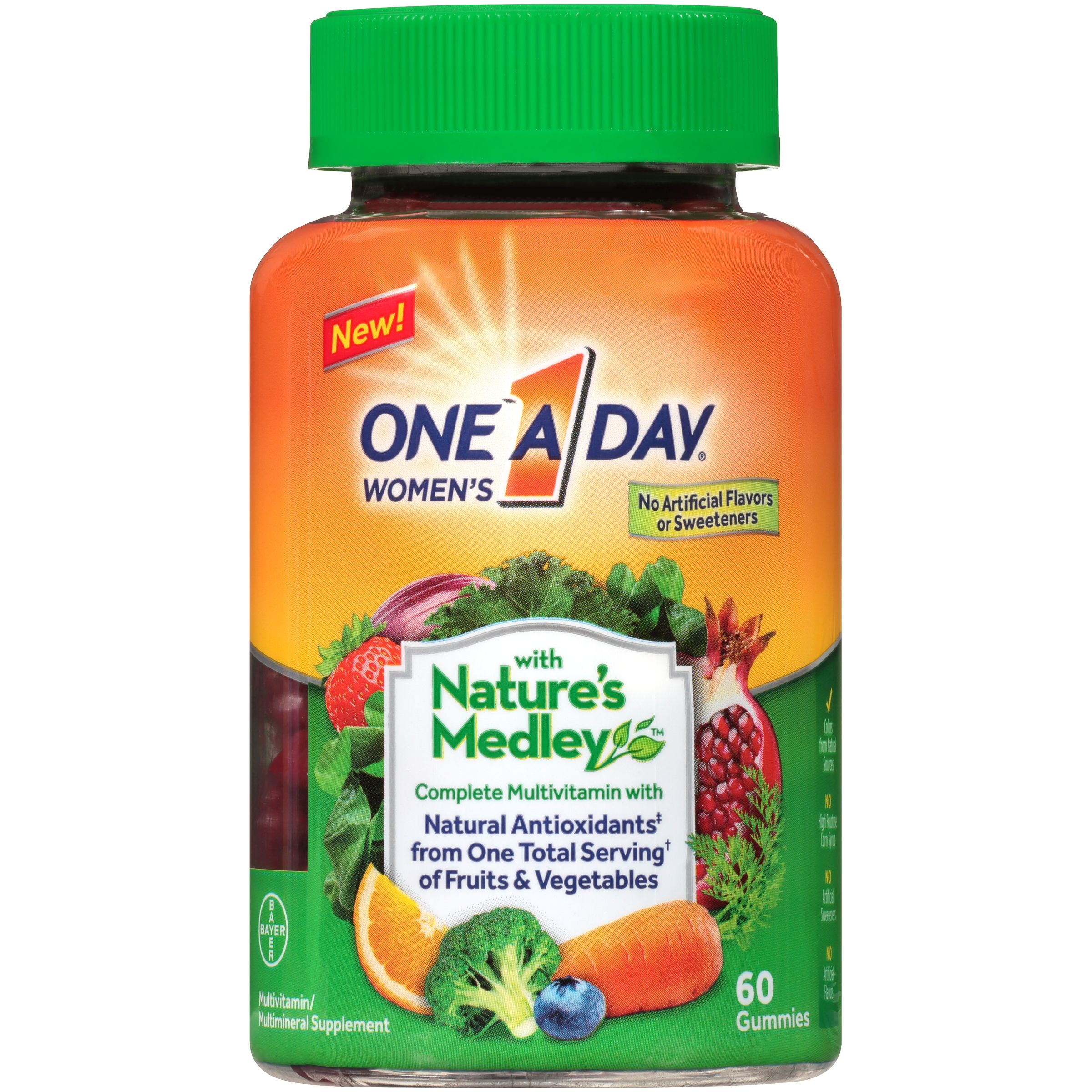 One A Day Women's with Nature's Medley Multivitamin Gummies, 60 Count