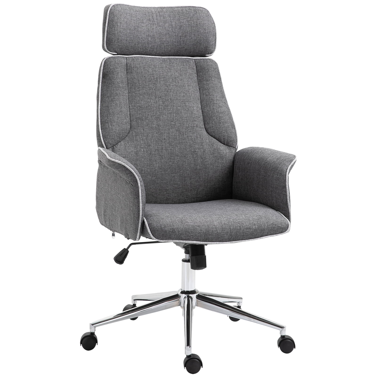 Vinsetto Adjustable Linen Fabric Swivel Home Office Chair