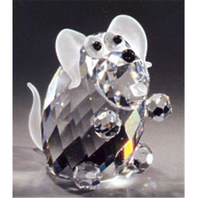 Asfour Crystal 693-65 2.28 L x 2.04 H in. Crystal Dog Animals Figurines