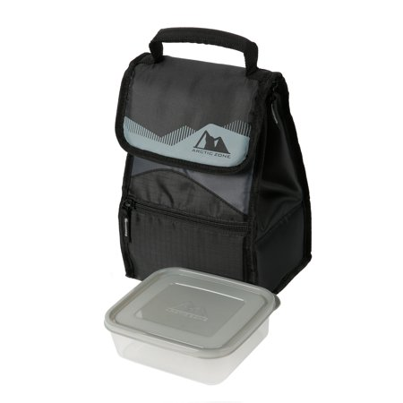Arctic Zone Hi-Top Black Power Pack Lunch Bag - White Lunch Bags