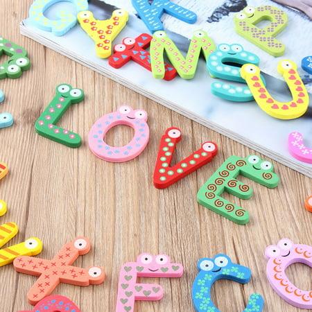 Fridge Wooden Magnet Baby Children Toy A-Z ABC Educational Alphabet 26 Letter - image 4 of 11