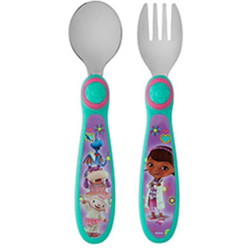The First Years Disney Junior Doc McStuffins Easy Grasp Flatware, BPA-Free