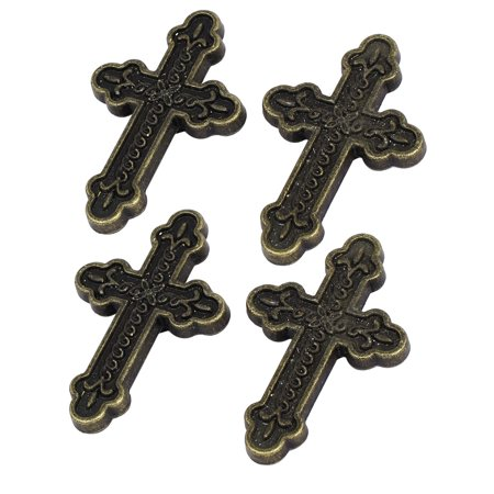 Jasmine Porcelain Cross Handle (Dresser Cabinet Retro Style Cross Shaped Pull Handles Knob 60x39x13mm 4pcs)