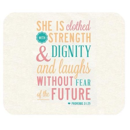 Popcreation Bible Verse Quotes She Is Clothed With Strength