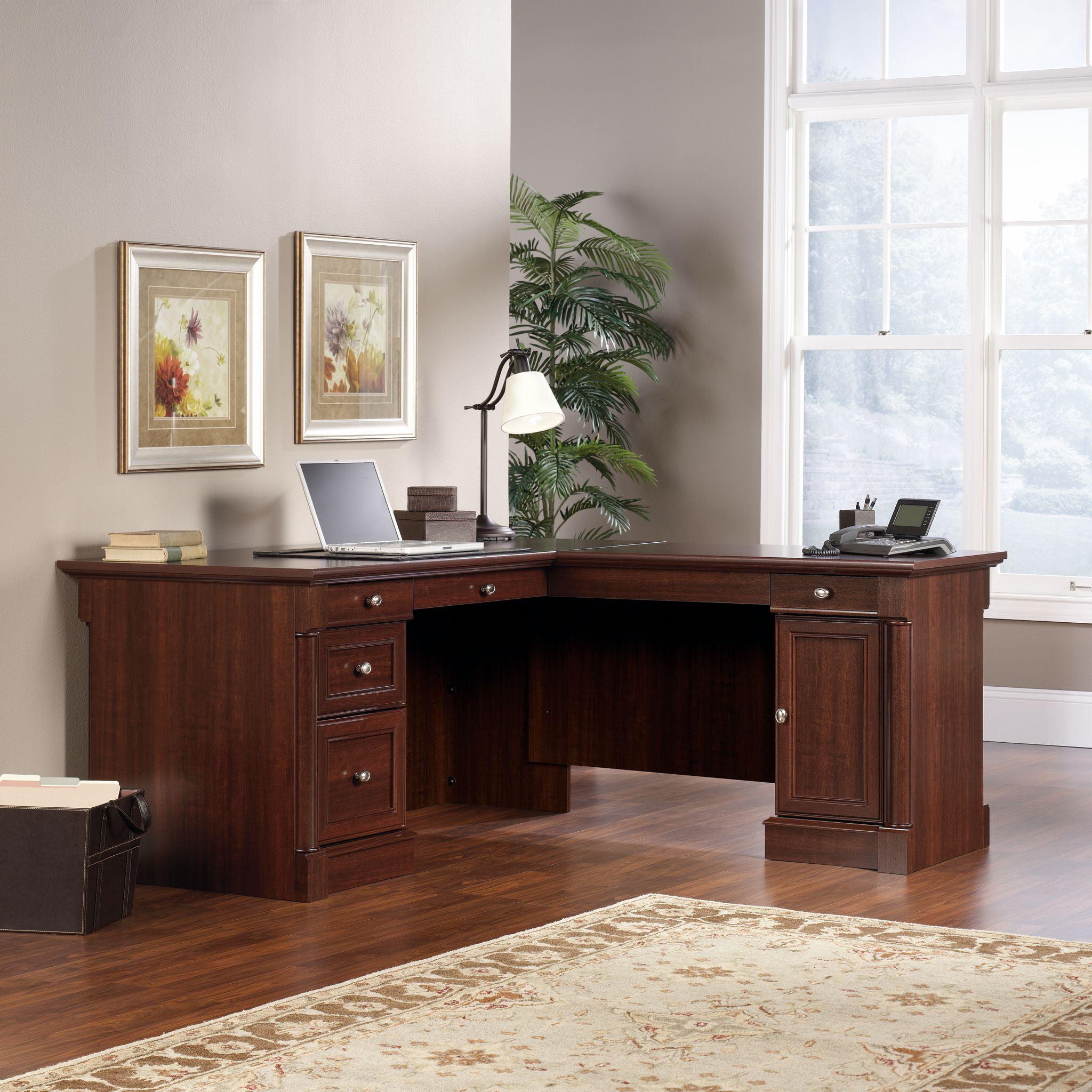 Beau Sauder Palladia L Shaped Desk, Select Cherry Finish   Walmart.com