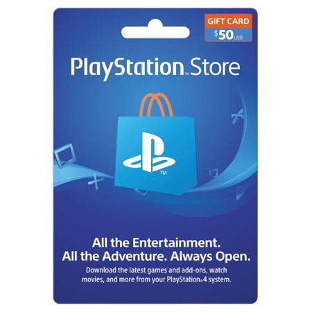 PlayStation Store $50 Gift Card, Sony [Digital (Compare Store Cards)
