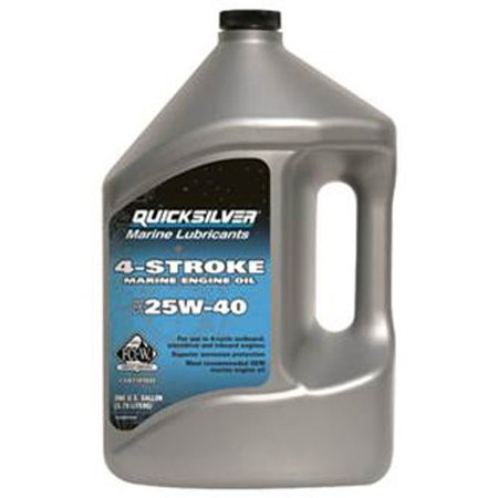 Quicksilver 25W-40 4-Stroke Marine Oil - 1 Gallon