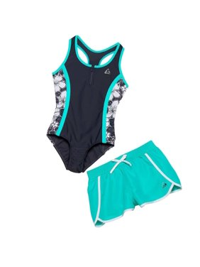 9a375f06ab Product Image Gerry Girls 2-Piece Swim Set - TEAL GREY - Size 14 - NEW