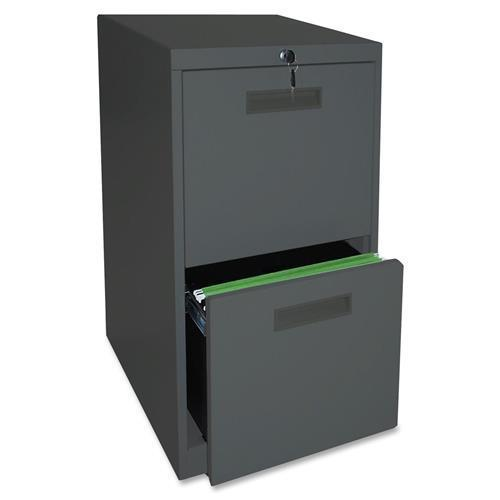 """67732 Lorell File/File Mobile Pedestal Files - 15"""" x 22"""" x 28"""" - Steel - 2 x File Drawer(s) - Letter - Security Lock, Ball-bearing Suspension - Charcoal"""