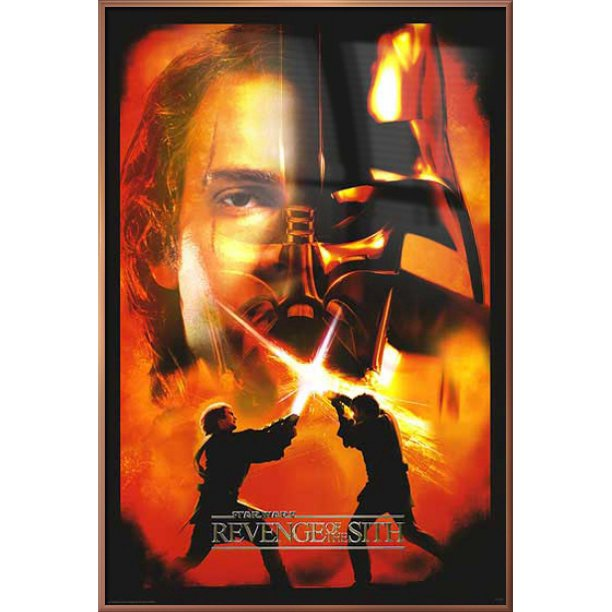 Star Wars Episode Iii Revenge Of The Sith Framed Movie Poster Print Anakin Skywalker Darth Vader Split Face Size 27 X 40 Walmart Com Walmart Com