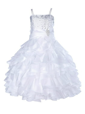 c2e88e5d73 Product Image Ekidsbridal Elegant Stunning Rhinestone Organza Layers Flower  Girl Dress Junior Bridesmaid Recital Easter Holiday Gown Birthday