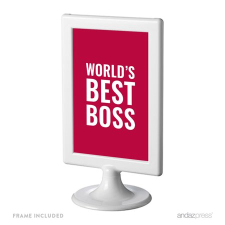 World's Best Boss Funny & Inspirational Quotes Office Framed Desk Art - Inspirational Framed Art