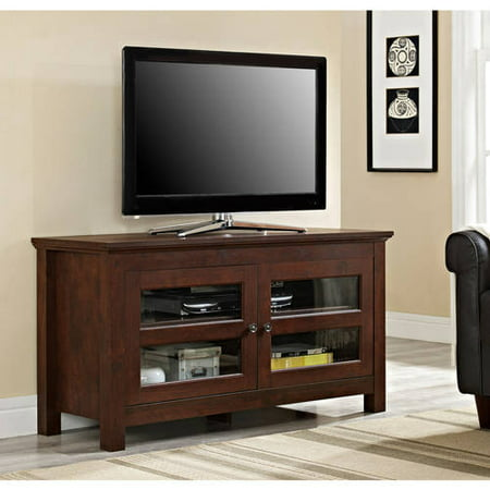 Walker Edison Wood TV Stand for TVs up to 48u0022 - Traditional Brown