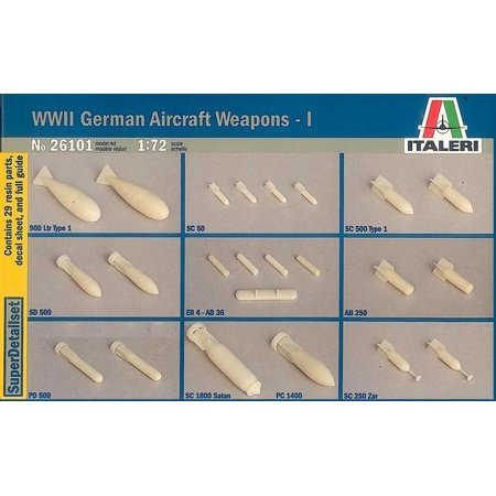 Italeri 1:72 WWII German Aircraft Weapon Set I  - Plastic Accessory (Aircraft Accessories)