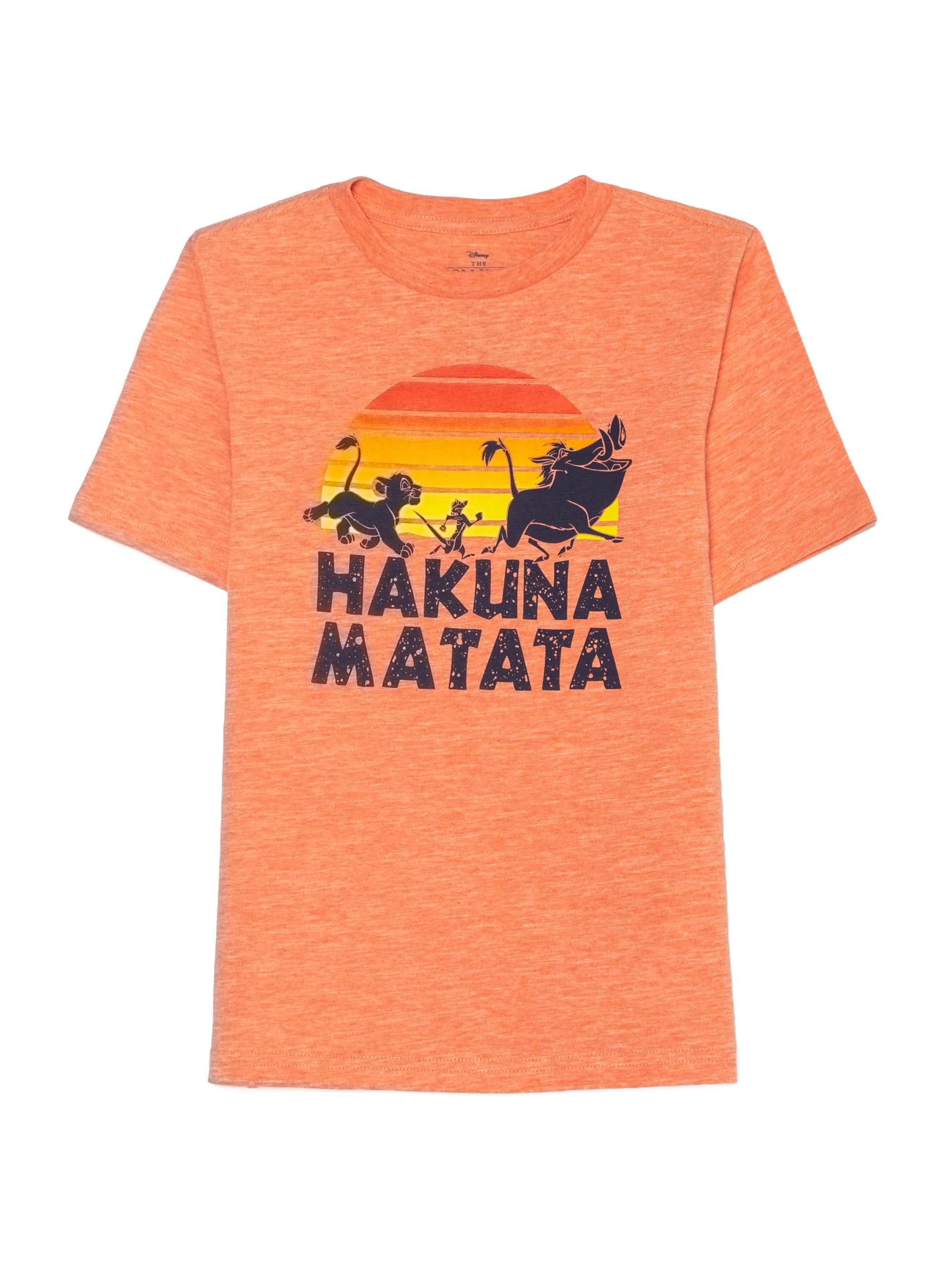 Hakuna Matata Lion King Licensed Graphic Tee (Little Boys & Big Boys)