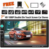Double Din Car Stereo 7 Inch In Dash Bluetooth Touch Screen Car MP5 Player with Rear-View Camera,Video MP5/4/3 Player, Radio FM, Car Stereo Receiver