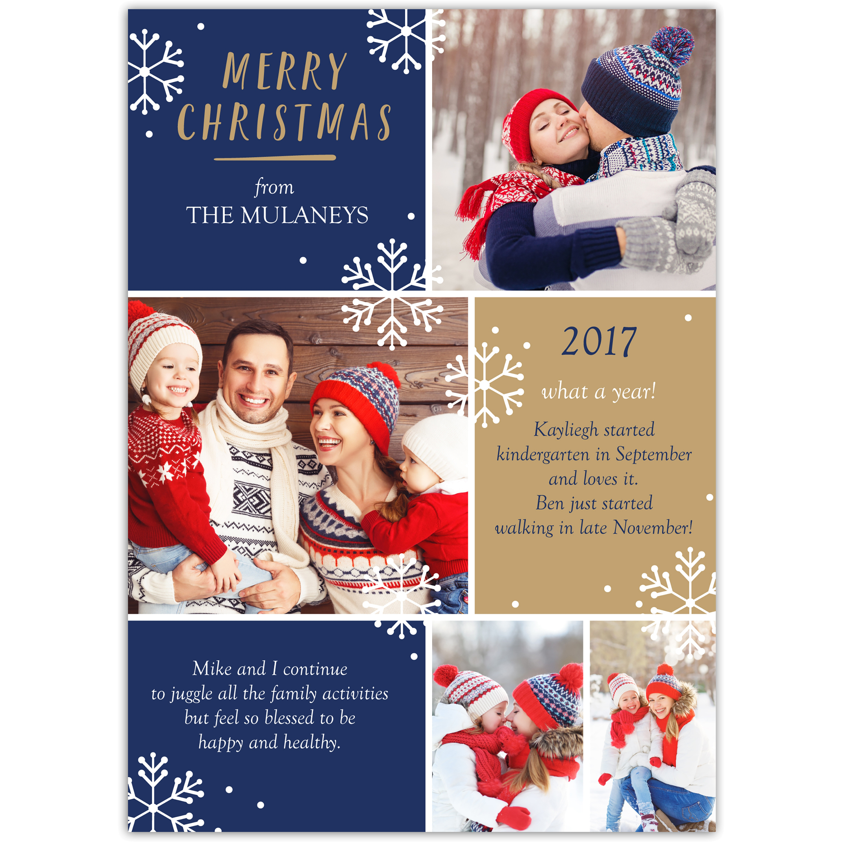 Christmas Review - 5x7 Personalized Christmas Card