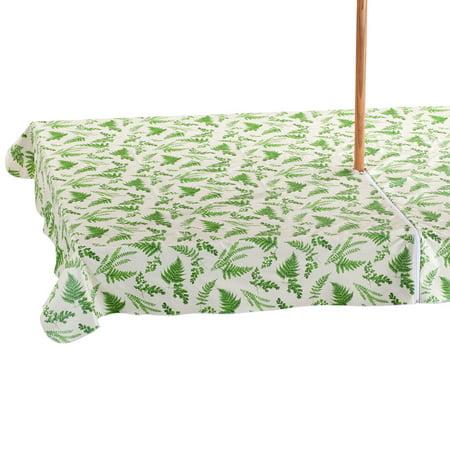 Garden Greenery Zippered Umbrella Table Cover - 60