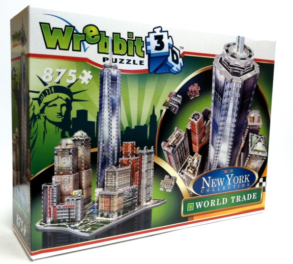 Wrebbit 3D: New York Collection Downtown One World Trade Foam Puzzle (875pcs) by