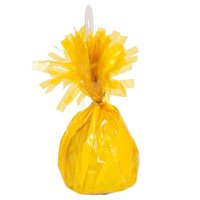Mayflower 84393 175g Fringed Foil Weight Balloon - Yellow