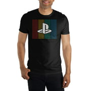 Men's Sony Playstation Rainbow Logo Short Sleeve T Shirt