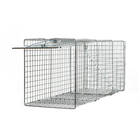 """Large One Door Catch Release Heavy Duty Cage Live Animal Trap for Gophers, Oppossums, Groundhogs, Beavers, and Other Similar Sized Animals, 32""""x10""""x12"""""""