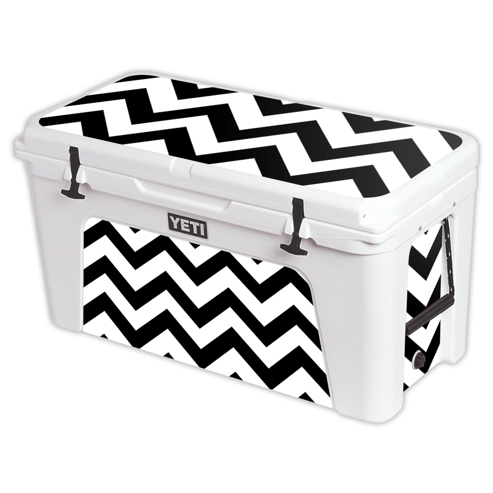 MightySkins Protective Vinyl Skin Decal for YETI Tundra 110 qt Cooler Lid wrap cover sticker skins Aqua Chevron