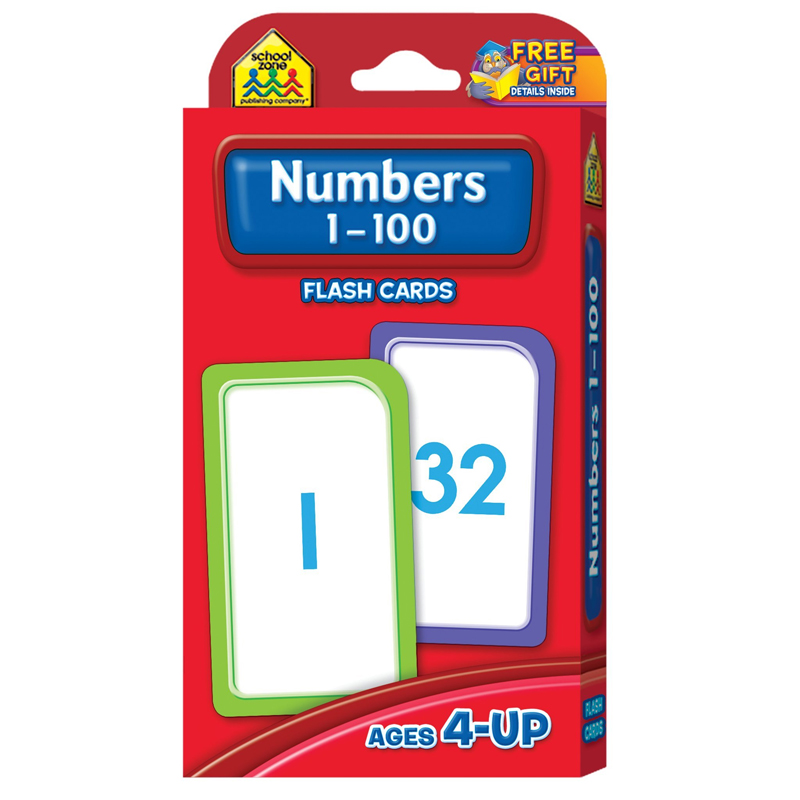 (12 PK) NUMBERS 1-100 FLASH CARDS