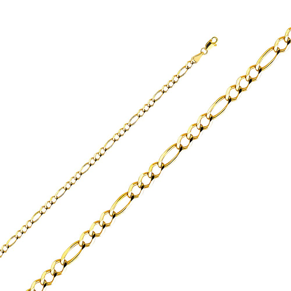 Mia Diamonds 14k WG 1.0mm Franco Chain Necklace