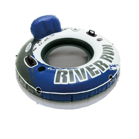 Intex River Run I Sport Lounge, Inflatable Water Float, 53u0022 Diameter
