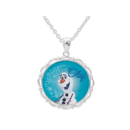 Disney Frozen Olaf the Snowman Pendant. GIFT BOX Silver Plated (Olaf Plates)