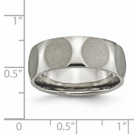 Titanium Faceted 8mm Wedding Ring Band Size 8.50 Fancy Fashion Jewelry Gifts For Women For Her - image 2 de 10