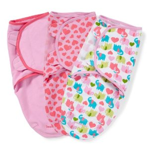 Summer Infant SwaddleMe Cotton Knit Small/Medium 3-Pack - Elephant Hearts