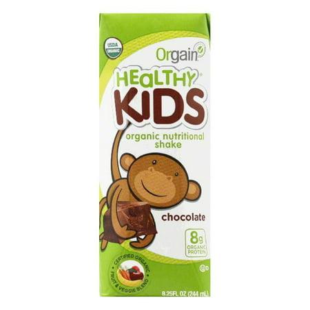 Orgain Healthy Kids Organic Nutritional Shake Chocolate, 8.25 FL OZ