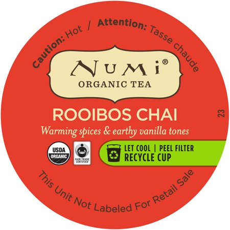 Numi Loose Leaf Organic Rooibos Chai Tea Cups Simple Servir, 16 Ct