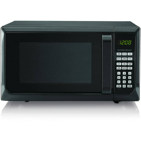 hamilton beach 0 9 microwave oven black stainless steel. Black Bedroom Furniture Sets. Home Design Ideas