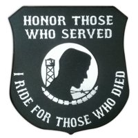 """Motorcycle Jacket Embroidered Back Patch - Honor Those Who Served - Military Vet - 11"""" x 12 Patch"""
