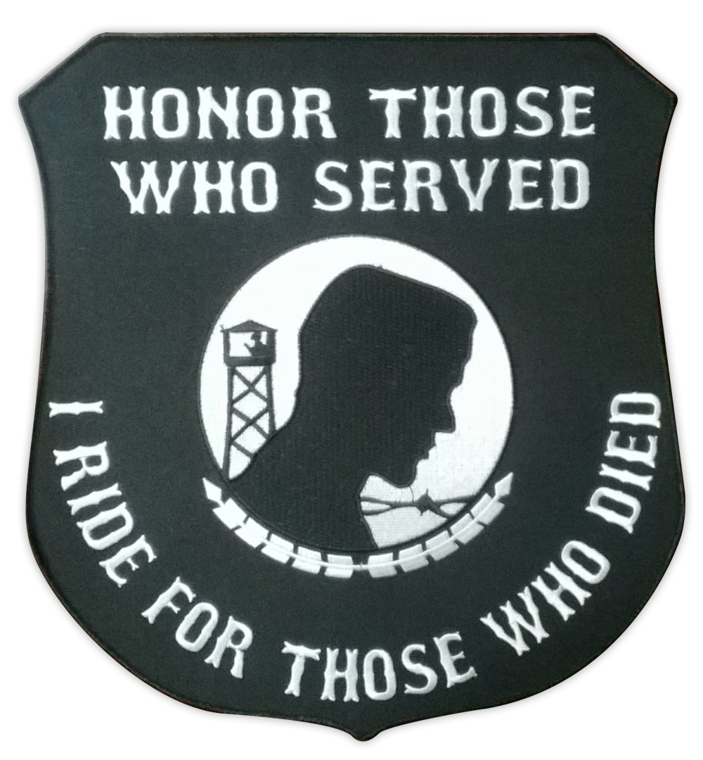 "Motorcycle Jacket Embroidered Back Patch - Honor Those Who Served - Military Vet - 11"" x 12 Patch"