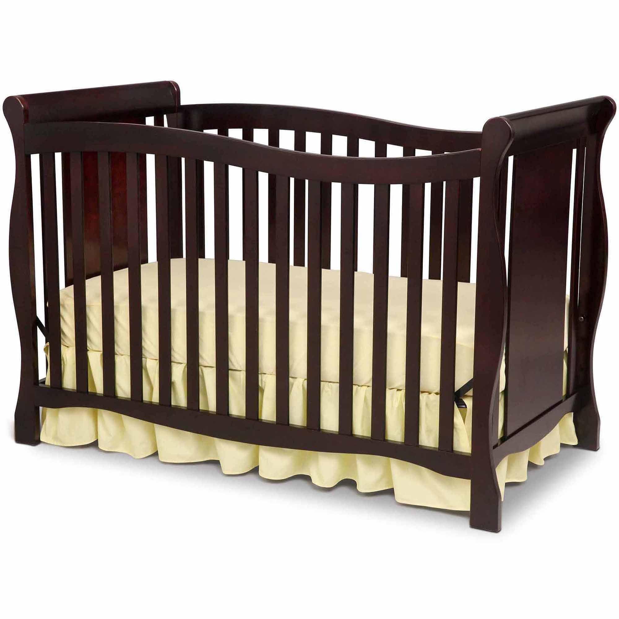 Delta Children Brookside 4 in 1 Convertible Crib Dark Chocolate