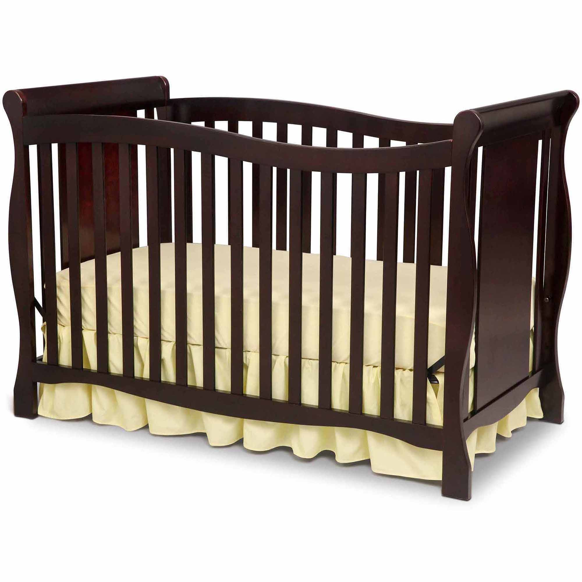 Delta Children's Products Brookside 4-in-1 Fixed-Side Crib, Choose your Finish