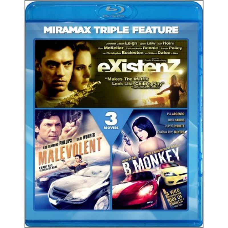 Existenz (Miramax Echo Bridge/ Blu-ray) / B. Monkey (Blu-ray) / Malevolent (Blu-ray)