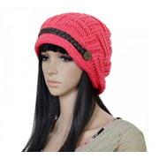 PaZinger Women Knit Hat Crochet Knit Slouchy Beanie Beret Cap Winter Warm Thick Slouchy Cable Knit Hat Snow Ski Caps