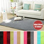 "63x47.2"" Inch Anti-Skid Shaggy Fluffy Area Rug Bedroom Carpet Floor Mat For Home Decor 160x120cm"