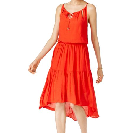 Sangria NEW Red Orange Women's Size 14 High Low Cutout Sheath Dress (Best Red Sangria Recipe)